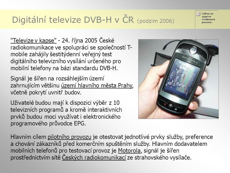 Digitální televize DVB-H v ČR (podzim 2006)