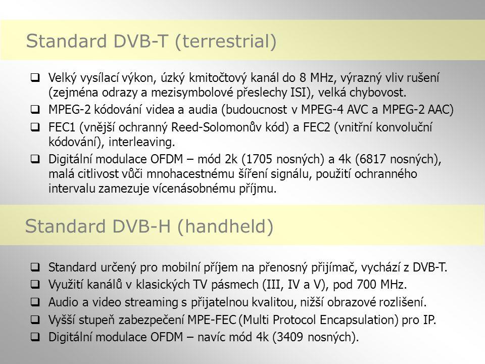 Digitální televize DVB-T v Evropě (podzim 2006)  Česká republika – říjen 2005 (plán na 3 multiplexy, řádný provoz zatím pouze multiplex A - plánované pokrytí 60 % území a 71 % populace, vypínání analogu postupně od února 2007 až do podzimu 2010, Brno 05/2008)