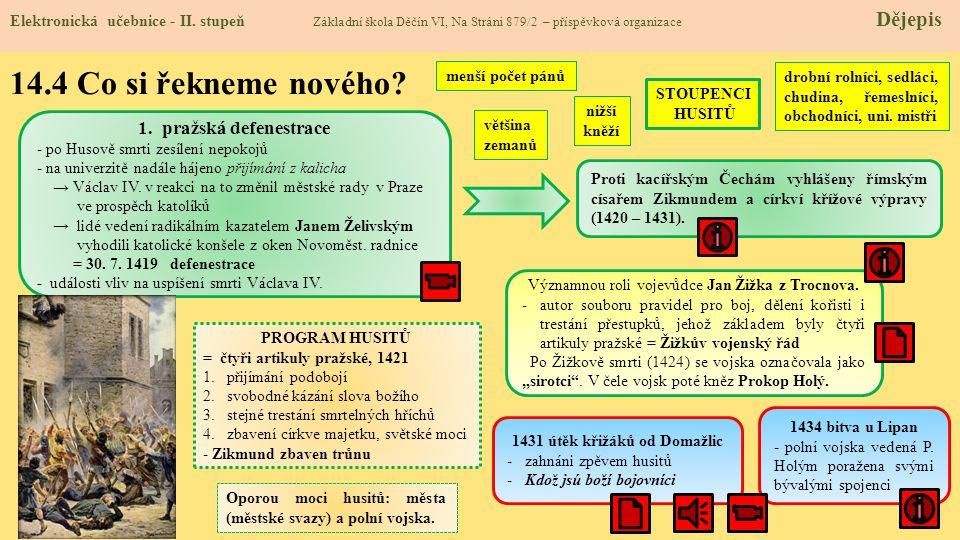 14.3 Jaké si řekneme nové termíny a názvy.Elektronická učebnice - II.