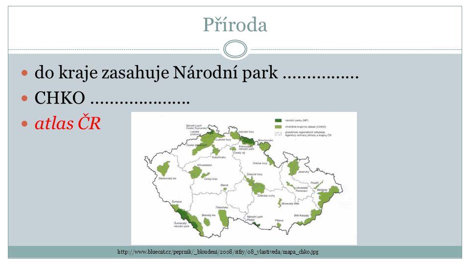 Příroda do kraje zasahuje Národní park................