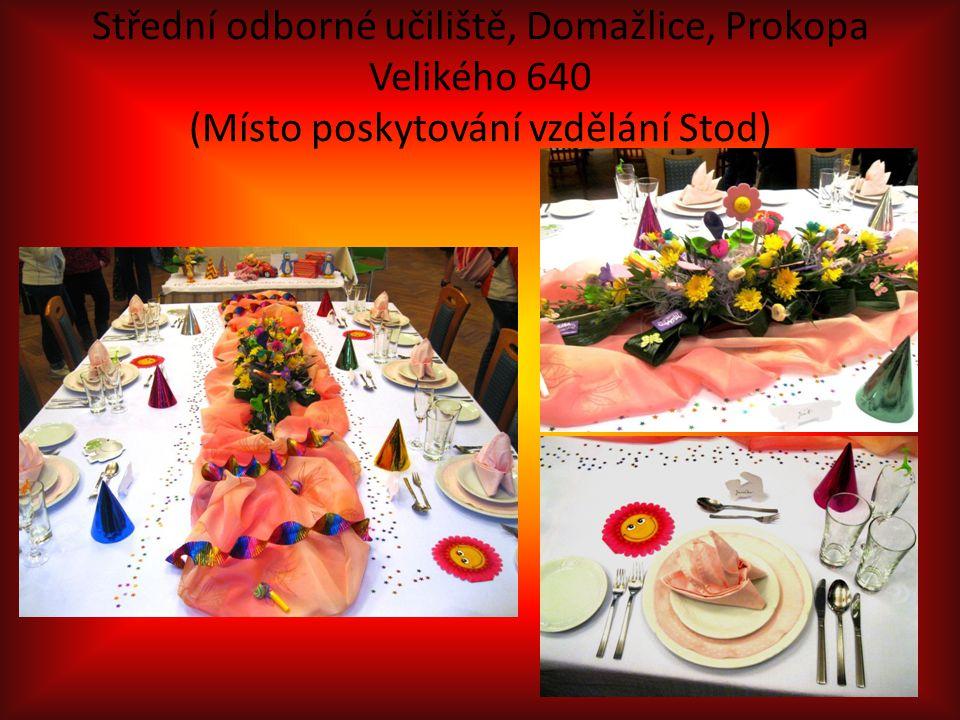 Střední odborné učiliště, Domažlice, Prokopa Velikého 640 (Místo poskytování vzdělání Stod)