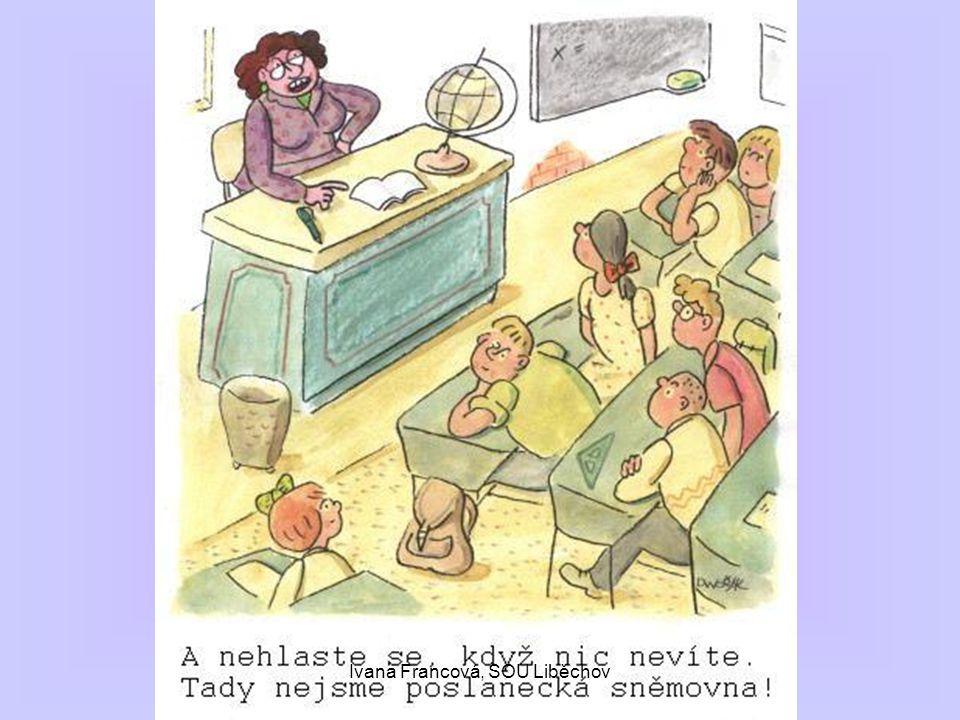 -dělení podle místa a)písemnosti vnější – externí: určeny ke komunikaci s vnějším obchodním nebo úředním partnerem, většinou jsou určeny k zveřejnění b) písemnosti vnitřní – interní: pouze pro vnitřní potřebu organizací a jejích zaměstnanců, nejsou určeny k zveřejnění Ivana Francová, SOU Liběchov