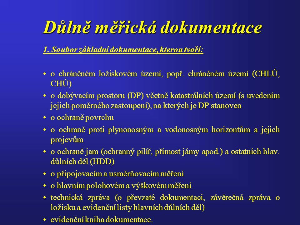 Důlně měřická dokumentace 1.