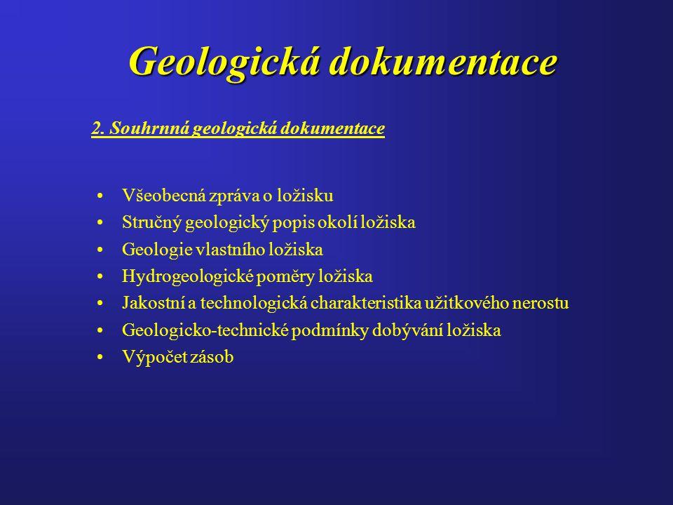 Geologická dokumentace 2.