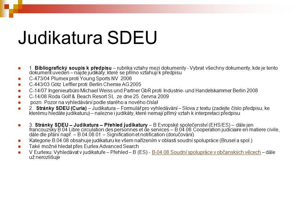 Judikatura SDEU 1.