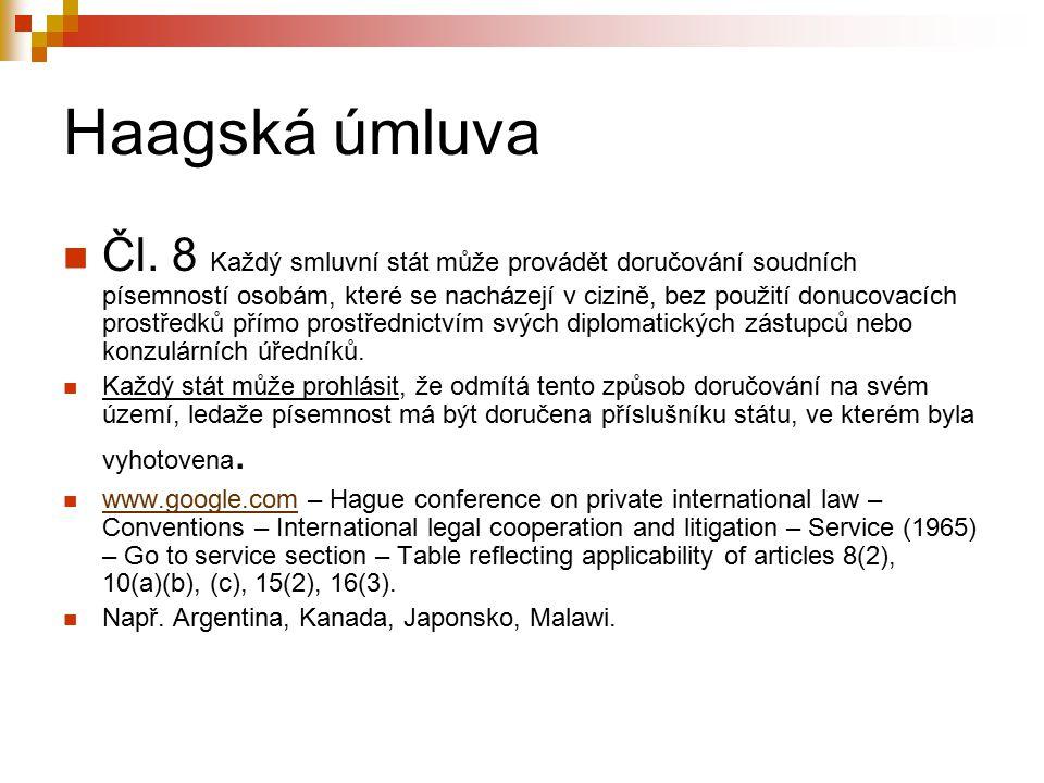 Haagská úmluva Čl.