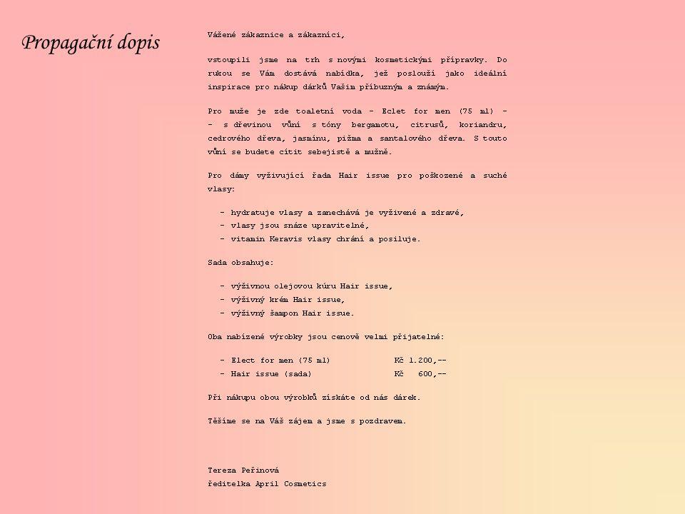Propagační dopis