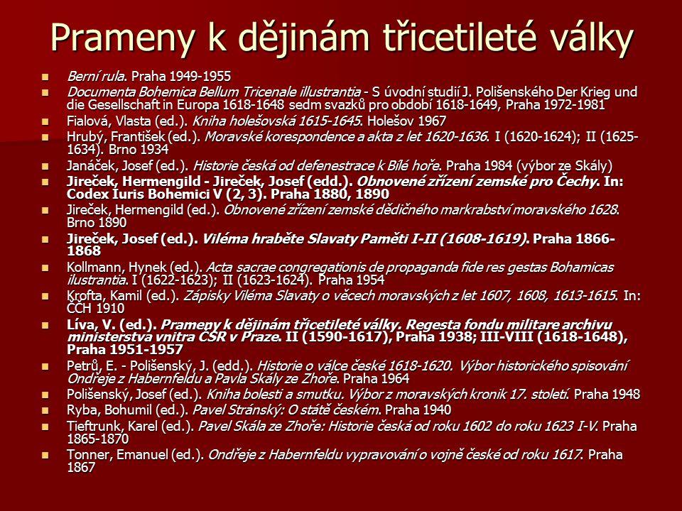 Prameny k dějinám třicetileté války Berní rula. Praha 1949-1955 Berní rula. Praha 1949-1955 Documenta Bohemica Bellum Tricenale illustrantia - S úvodn