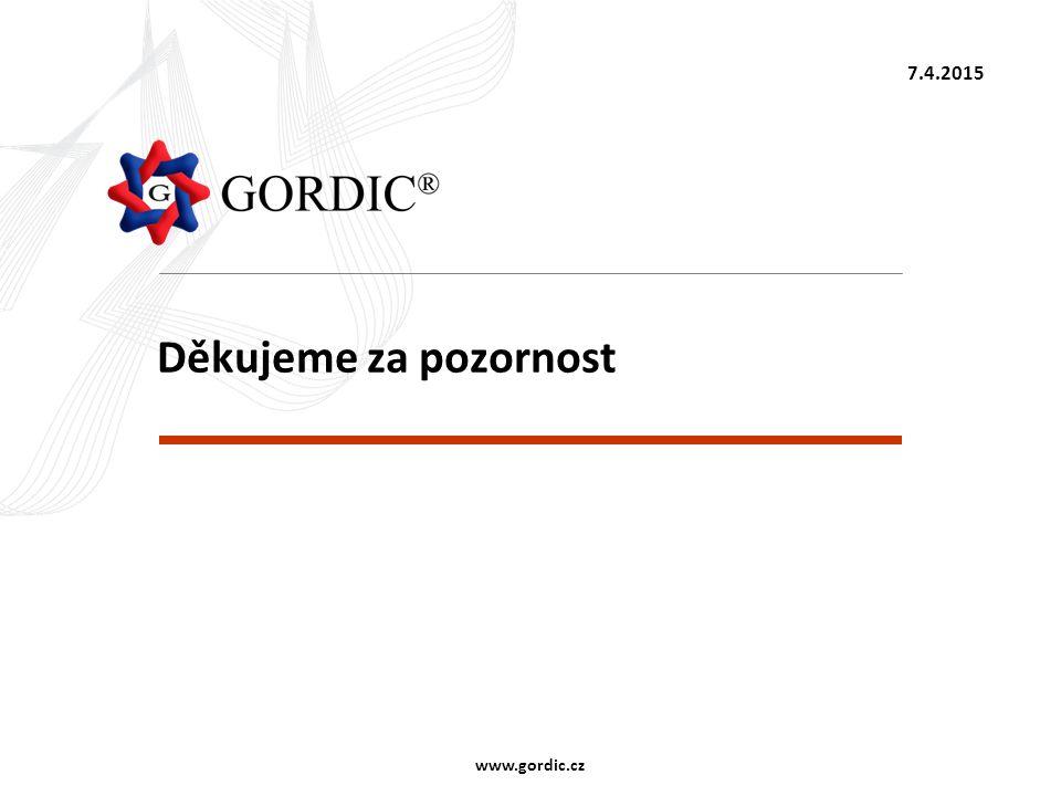 Děkujeme za pozornost 7.4.2015 www.gordic.cz