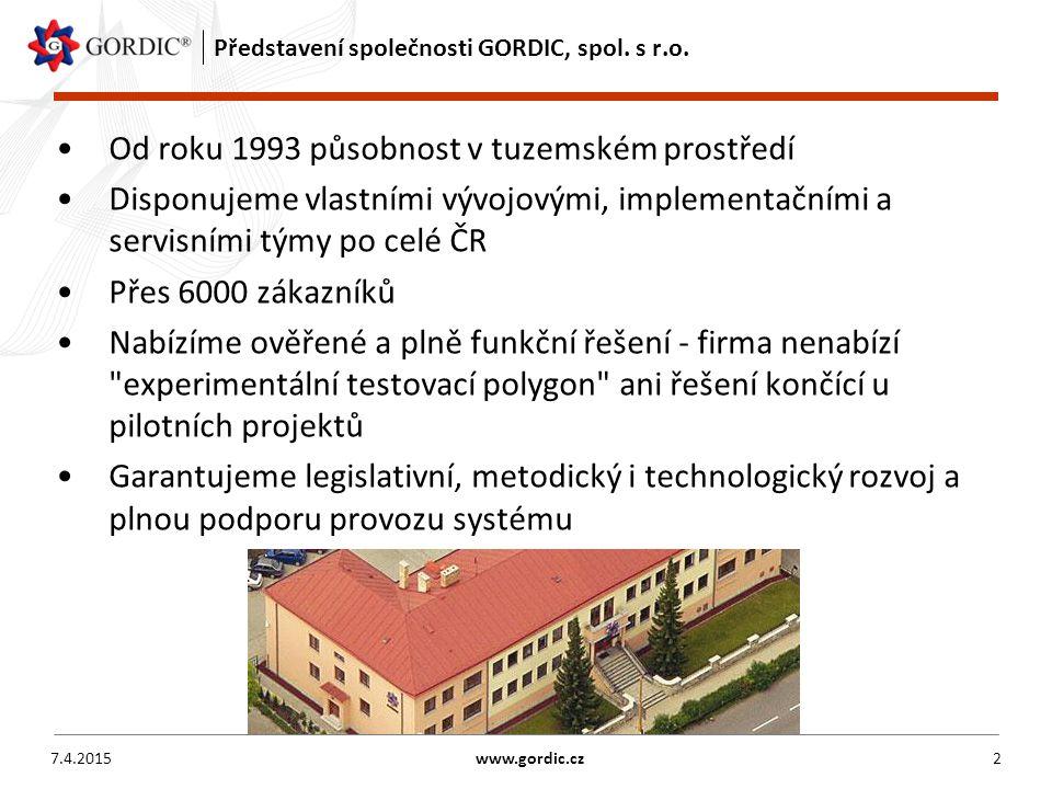 Představení společnosti GORDIC, spol. s r.o.