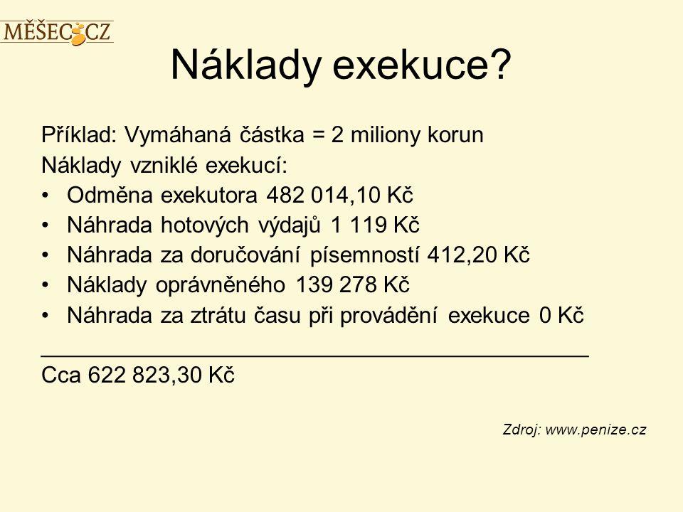Náklady exekuce.