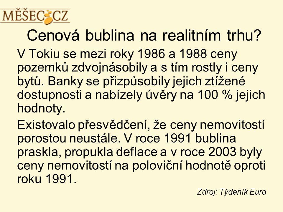Cenová bublina na realitním trhu.