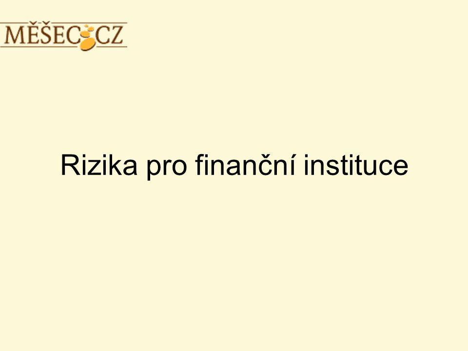 Rizika pro finanční instituce