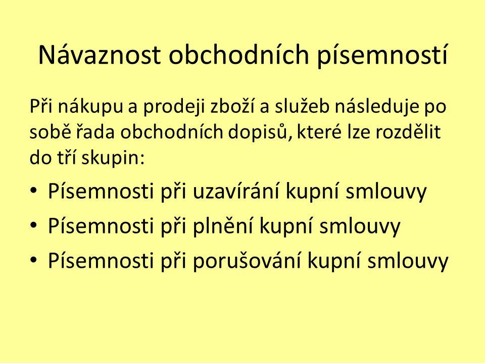 Seznam použité literatury: [1] FLEISCHMANNOVÁ E., KULDOVÁ O., ŠEDÝ R., Obchodní korespondence pro střední školy, nakladatelství Fortuna, Praha, 2010, ISBN 80-7186-919