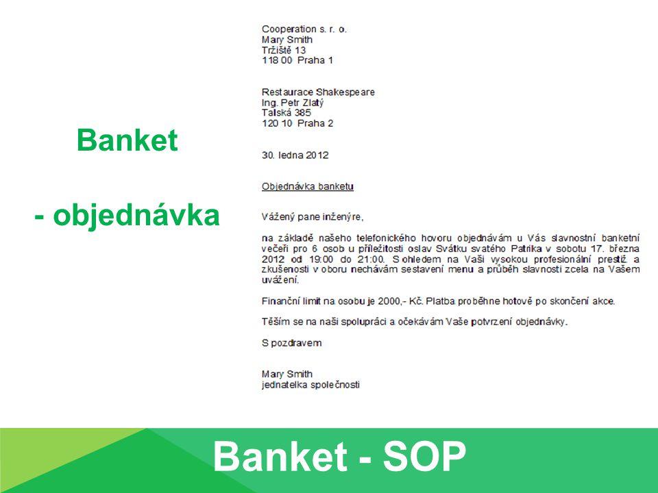 Banket - objednávka
