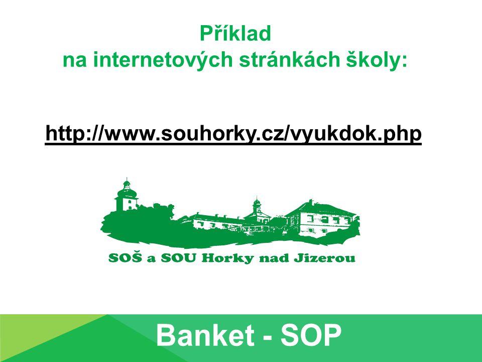 Příklad na internetových stránkách školy: http://www.souhorky.cz/vyukdok.php