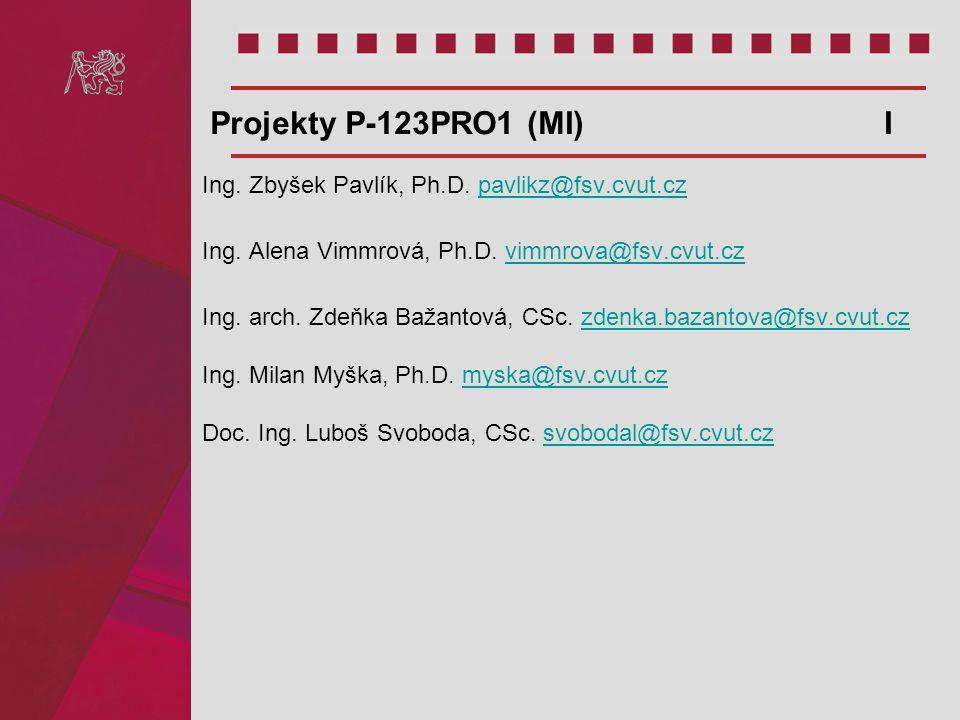 Ing. Zbyšek Pavlík, Ph.D. pavlikz@fsv.cvut.czpavlikz@fsv.cvut.cz Ing. Alena Vimmrová, Ph.D. vimmrova@fsv.cvut.czvimmrova@fsv.cvut.cz Ing. arch. Zdeňka