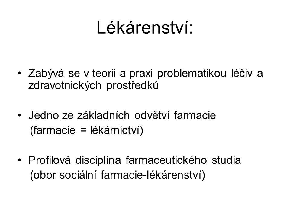 Terminologické poznámky Doplňkový sortiment- parafarmaceutika