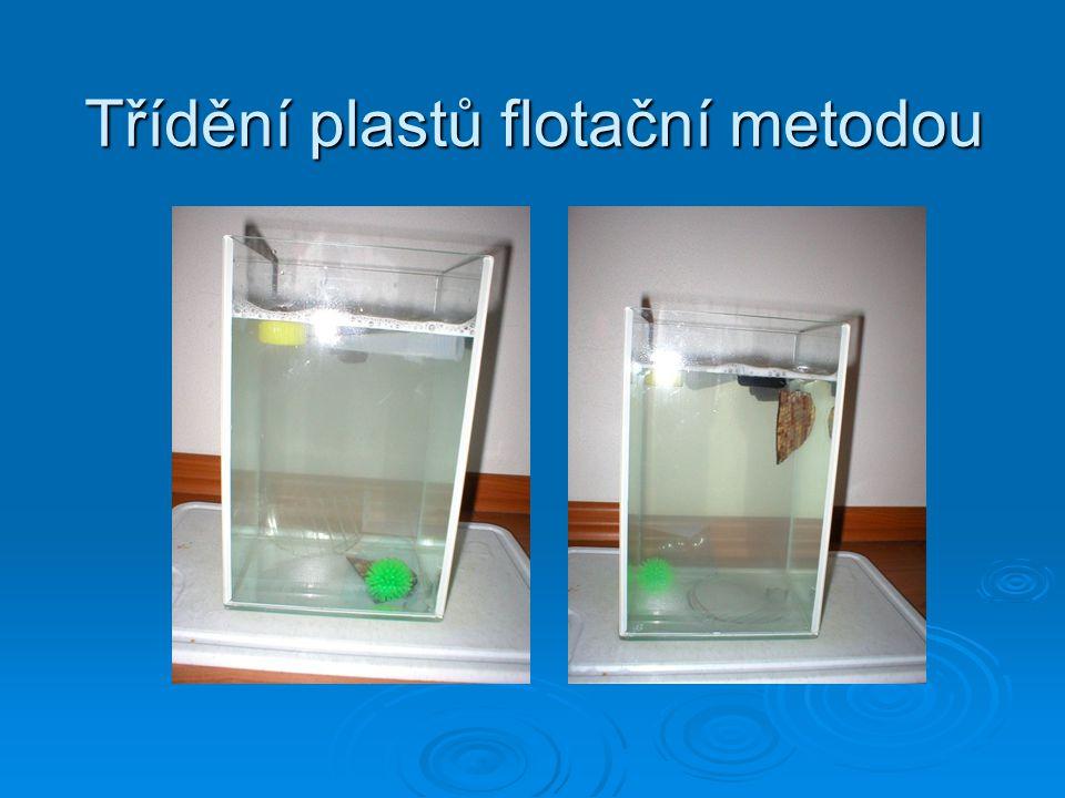 Třídění plastů flotační metodou