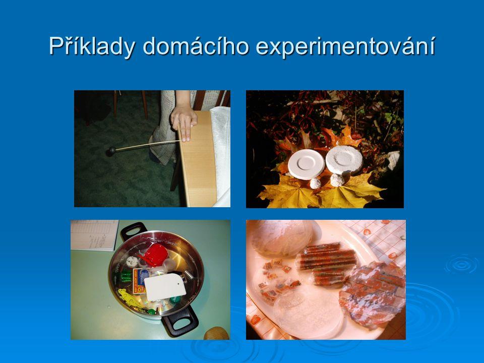 Příklady domácího experimentování