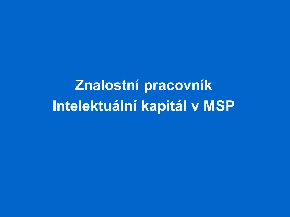Znalostní pracovník Intelektuální kapitál v MSP