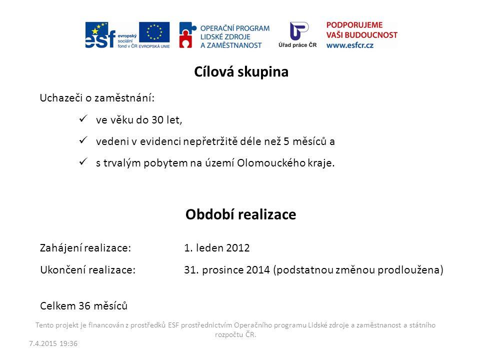 Regionální individuální projekt Příležitost pro mladé v Olomouckém kraji reg. č. CZ.1.04/2.1.00/70.00018 Tento projekt je financován z prostředků ESF