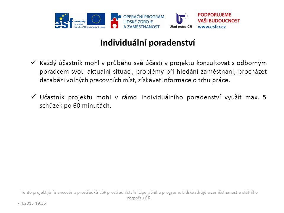 7.4.2015 19:38 Tento projekt je financován z prostředků ESF prostřednictvím Operačního programu Lidské zdroje a zaměstnanost a státního rozpočtu ČR. S