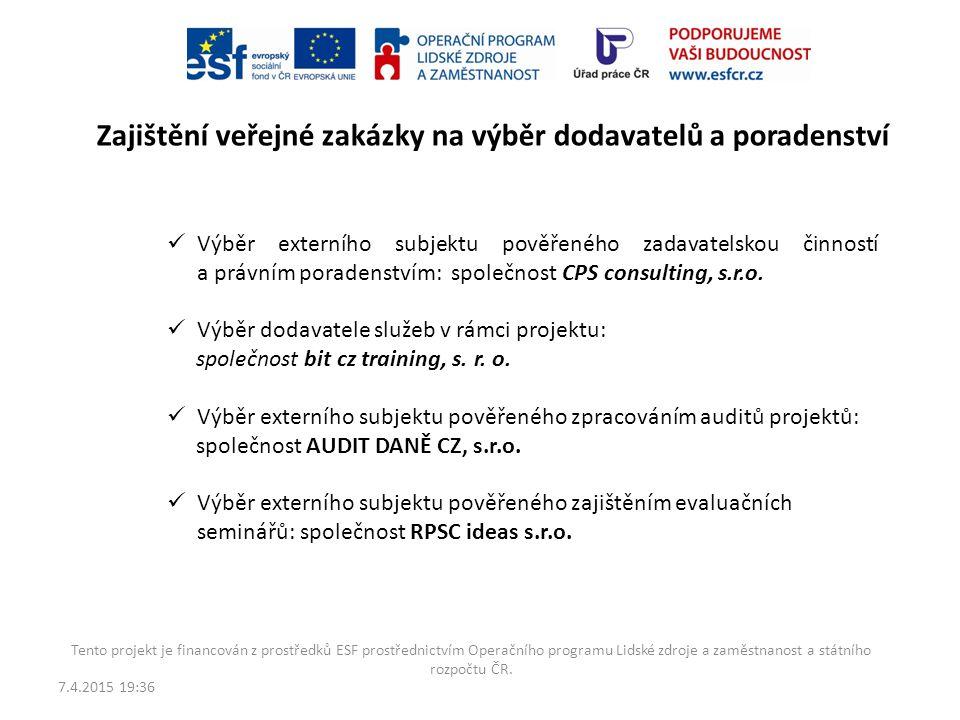7.4.2015 19:38 Tento projekt je financován z prostředků ESF prostřednictvím Operačního programu Lidské zdroje a zaměstnanost a státního rozpočtu ČR. R