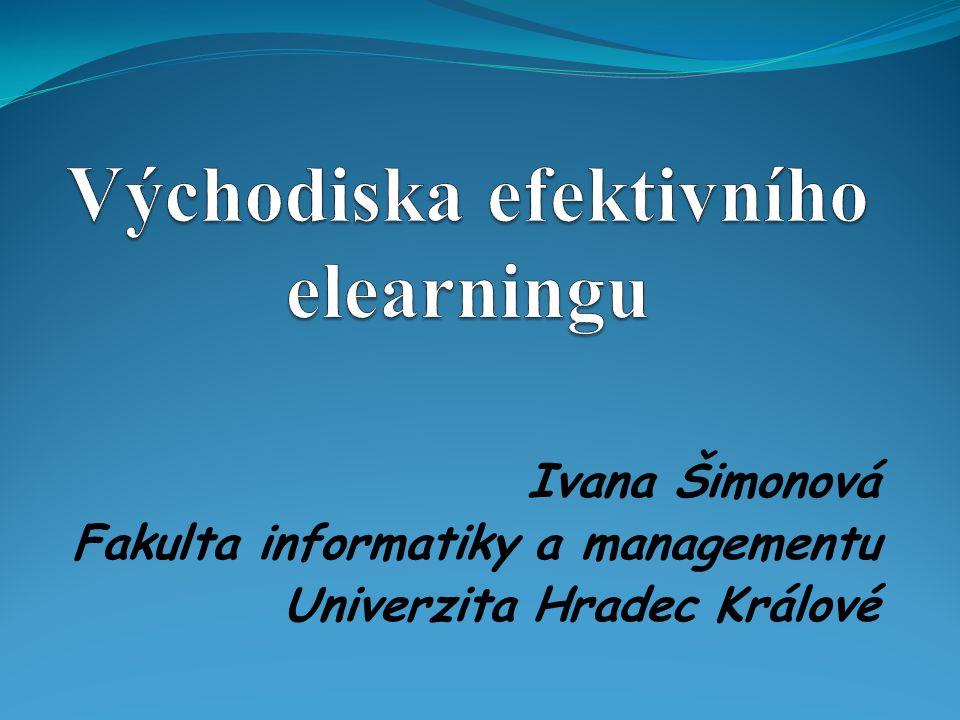 Ivana Šimonová Fakulta informatiky a managementu Univerzita Hradec Králové