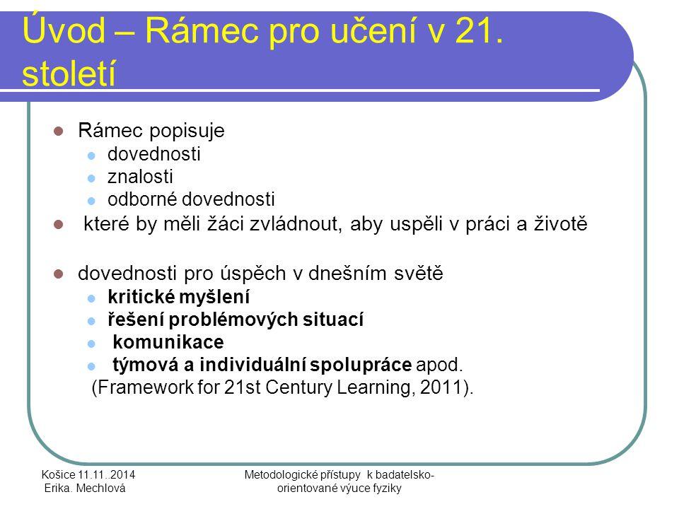 Úvod – Rámec pro učení v 21.století Rozvíjení kompetencí ve 3 doménách 1.