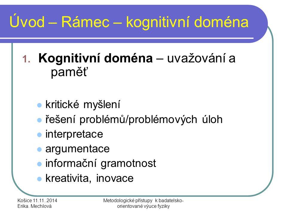 Úvod – Rámec – intrapersonální doména 2.