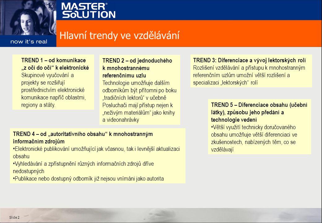 Slide 3 Lektor roku 2010 bude používat nejnovější technologii – doma i ve vzdělávacích zařízení Technologie nikdy nenahradí lektora – podpoří jeho aktivity a posílí tak vzdělávání.