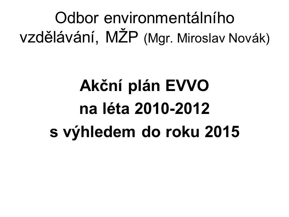Odbor environmentálního vzdělávání, MŽP (Mgr. Miroslav Novák) Akční plán EVVO na léta 2010-2012 s výhledem do roku 2015