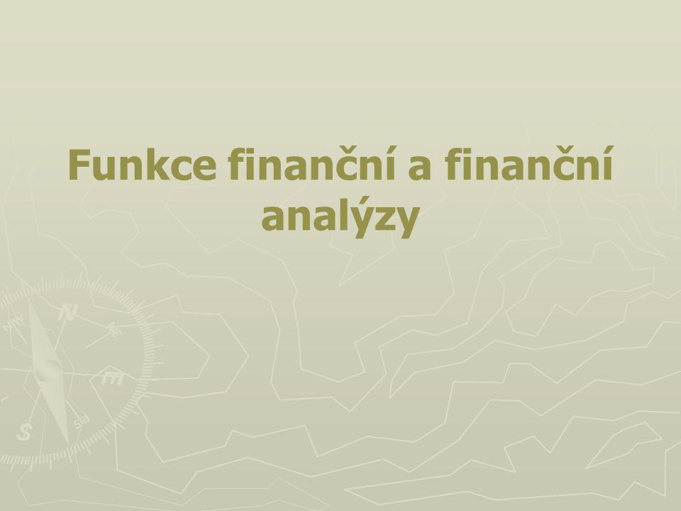 Funkce finanční a finanční analýzy