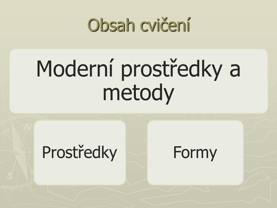 Obsah cvičení Moderní prostředky a metody ProstředkyFormy