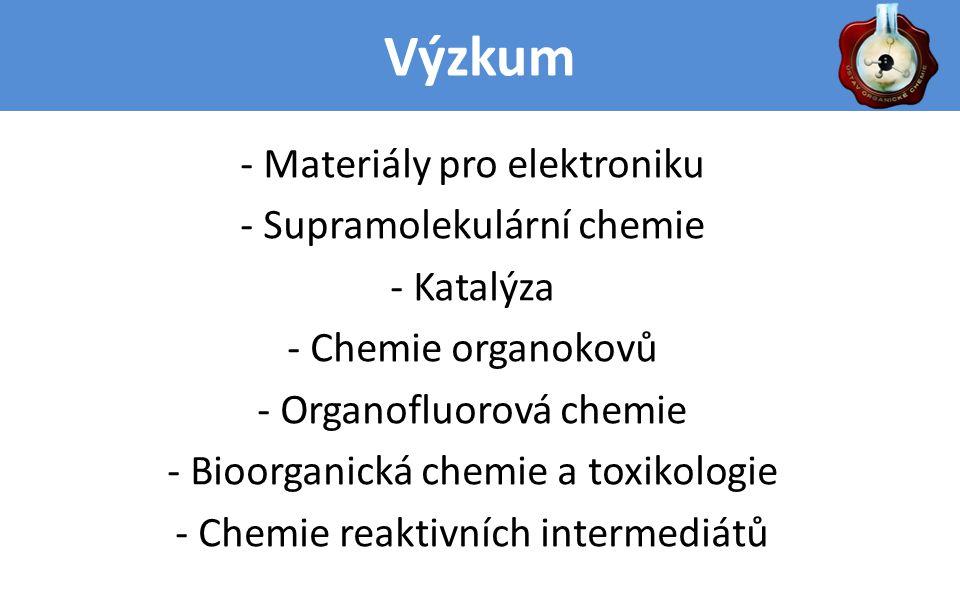 Výzkum: Chemie organokovů Příprava a reaktivita karbenových komplexů přechodných kovů: Tyto komplexy obsahují dvojnou vazbu kov-uhlík, jsou velmi reaktivní a našly řadu uplatnění jak v organické syntéze, tak v průmyslu.