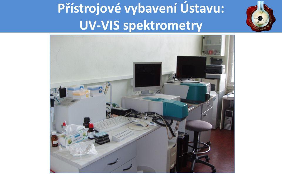 Přístrojové vybavení Ústavu: UV-VIS spektrometry