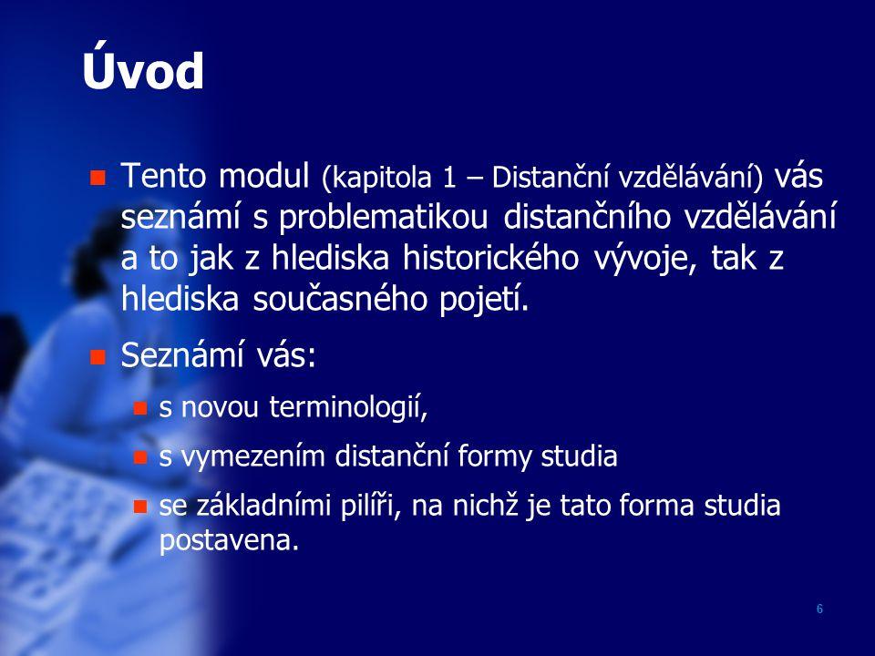 17 Studijní materiály V DiV se setkáte s označením studijní opory.