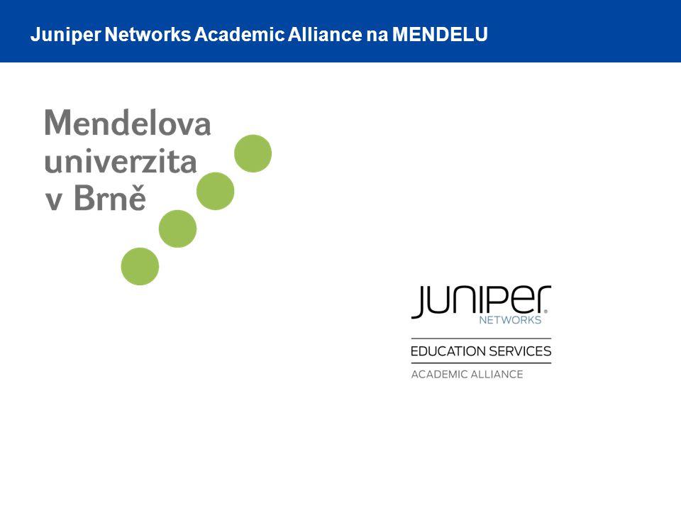 Juniper Networks Academic Alliance na MENDELU
