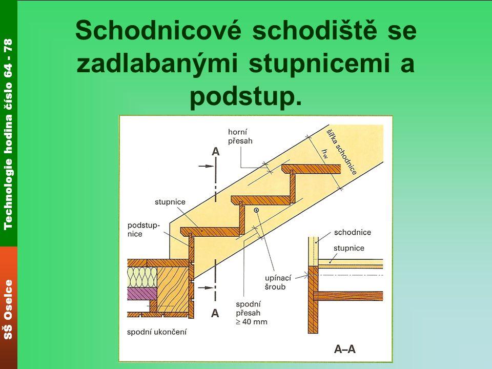 Technologie hodina číslo 64 - 78 SŠ Oselce Schodnicové schodiště se zadlabanými stupnicemi a podstup.