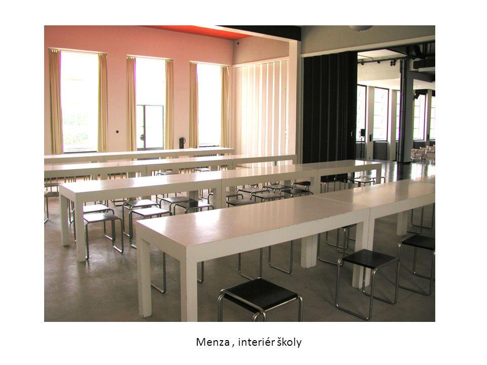 Menza, interiér školy