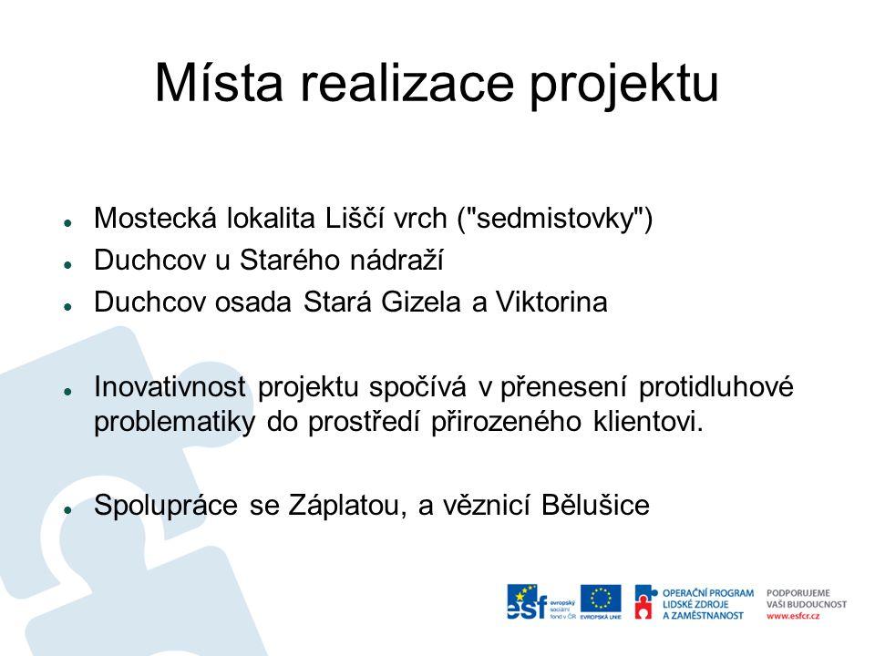 Místa realizace projektu Mostecká lokalita Liščí vrch (