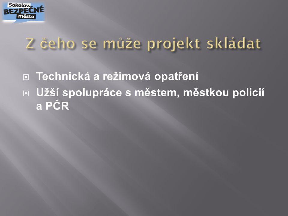  Kamerové systémy (společné prostory, výtahy, prostor pro odpadové nádoby atd.)  Kartové systémy (elektronické zámky)  Tísňové hlásiče (přímé spojení na MP a PČR)  Označení domu se zvýšenou ostrahou MP a PČR
