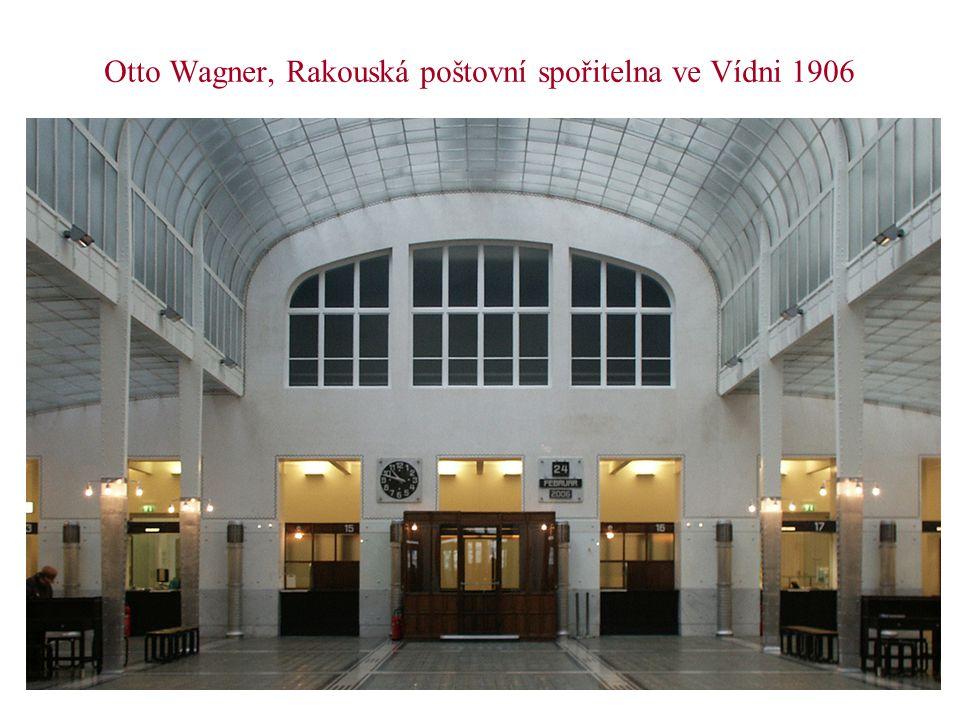 Otto Wagner, Rakouská poštovní spořitelna ve Vídni 1906