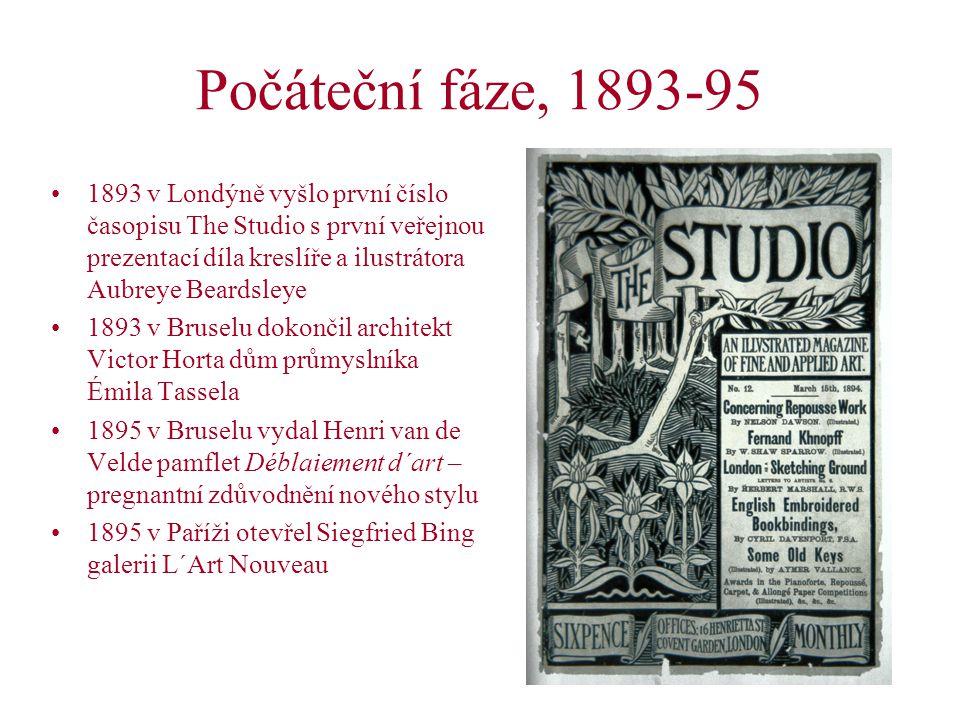 Hlavní centra secese ve střední Evropě Mnichov: 1892 založena Mnichovská secese (v čele Franz von Stuck), čsp.