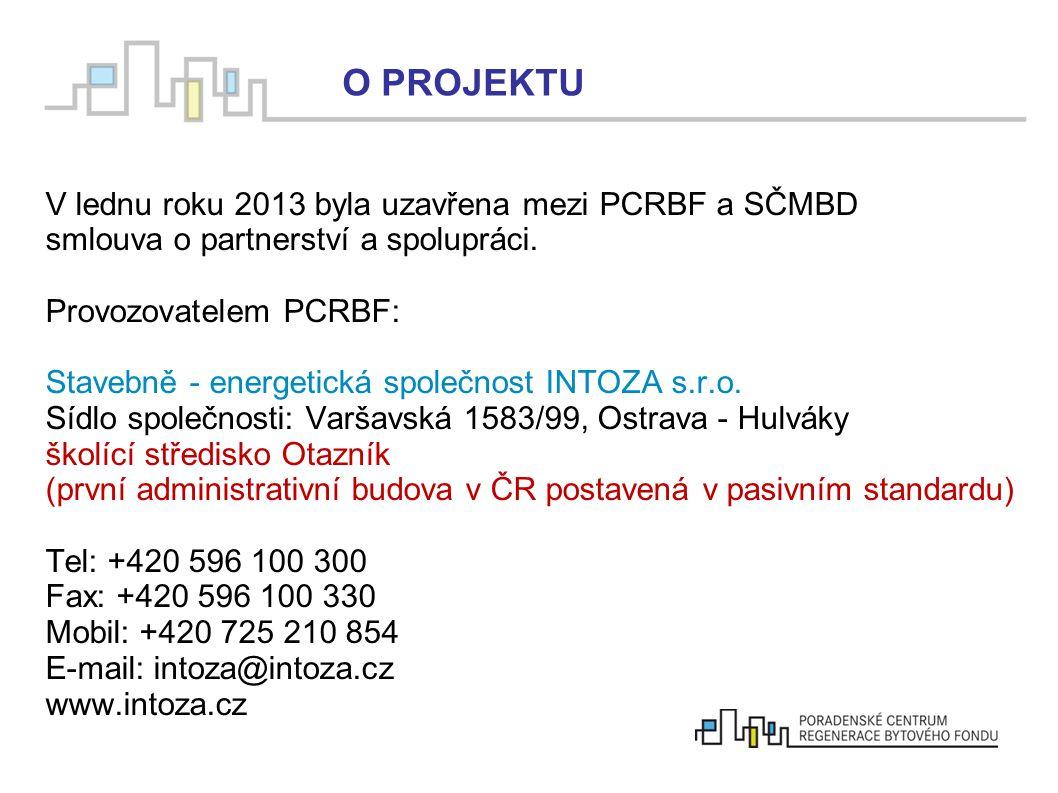 V lednu roku 2013 byla uzavřena mezi PCRBF a SČMBD smlouva o partnerství a spolupráci. Provozovatelem PCRBF: Stavebně - energetická společnost INTOZA