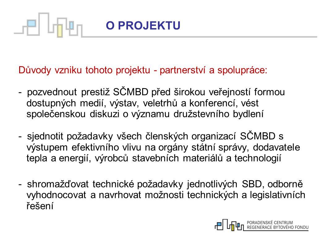 Důvody vzniku tohoto projektu - partnerství a spolupráce: - pozvednout prestiž SČMBD před širokou veřejností formou dostupných medií, výstav, veletrhů