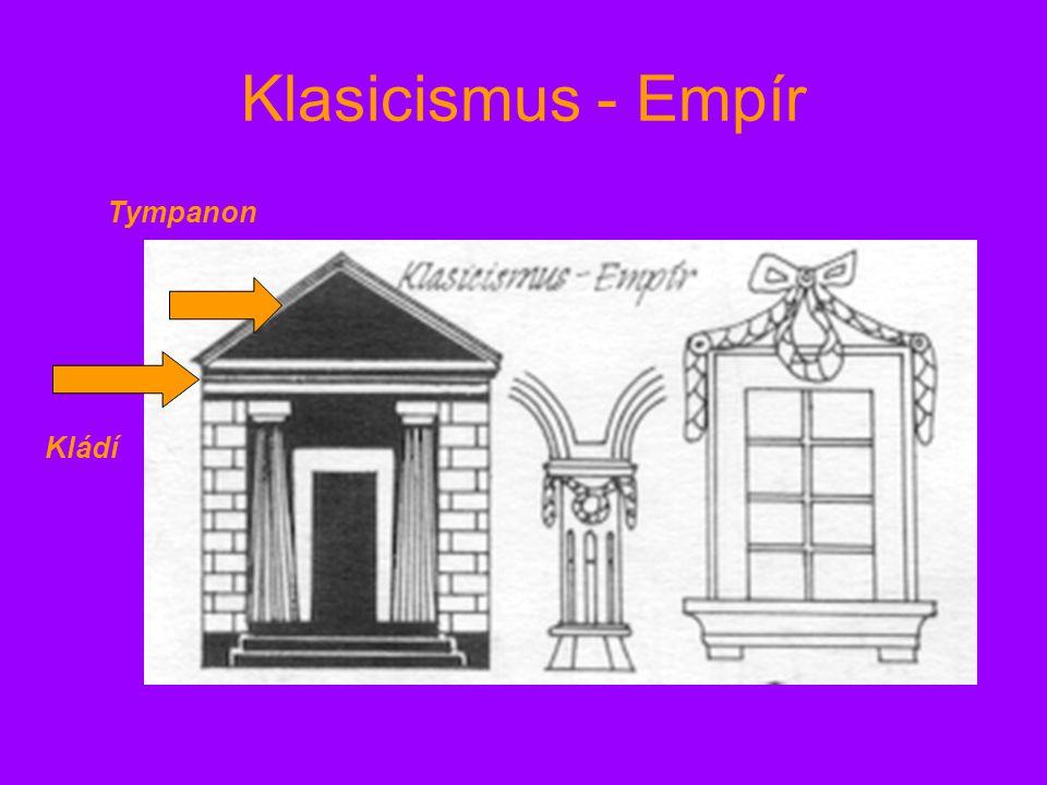 Klasicismus - Empír Tympanon Kládí
