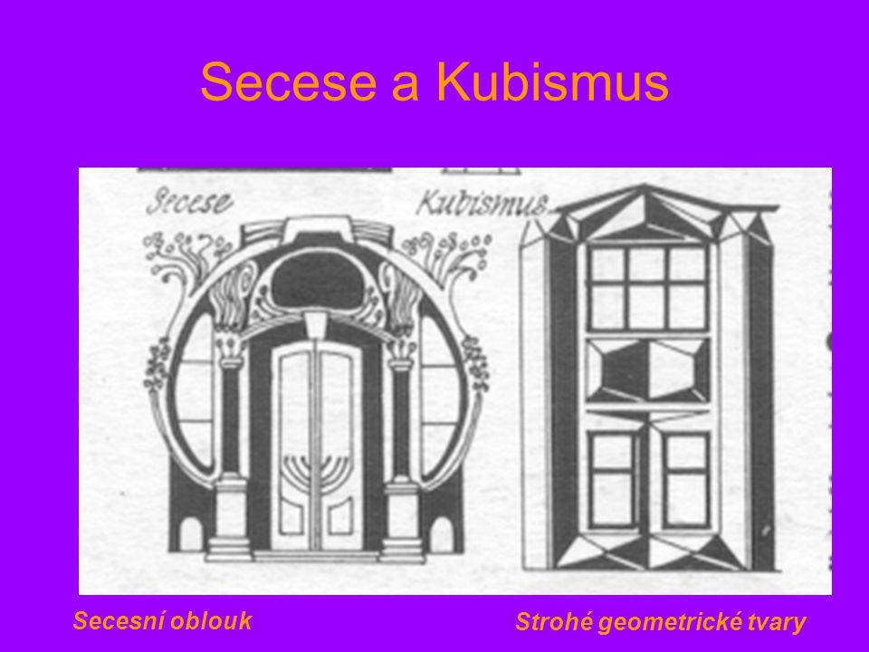 Secese a Kubismus Secesní oblouk Strohé geometrické tvary