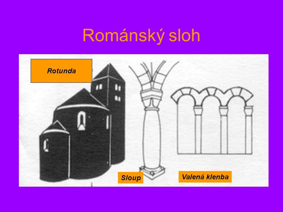 Románský sloh Valená klenba Sloup Rotunda